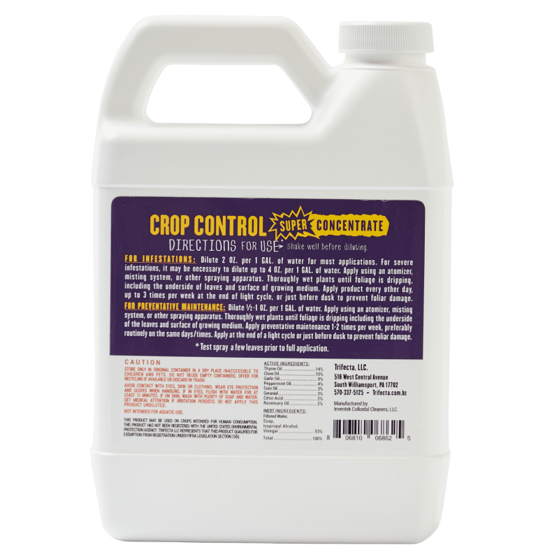 Crop Control Super Concentrate 32 Oz Back